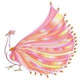 Vektorillustration av den stiliserade abstrakta påfågeln Royaltyfri Fotografi