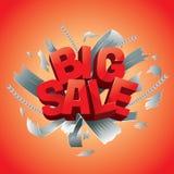 Vektorillustration av den stora försäljningsaffischen Royaltyfri Fotografi