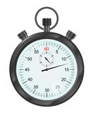 Vektorillustration av den svart stopwatchen Arkivfoto