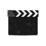 Vektorillustration av den svarta filmclapperen som isoleras på vit Royaltyfri Foto
