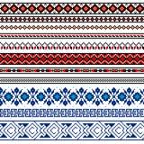 Vektorillustration av den ukrainska folk sömlösa modellprydnaden etnisk prydnad Gränsbeståndsdel stock illustrationer