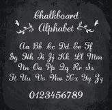 Vektorillustration av det chalked alfabetet Arkivbilder