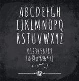 Vektorillustration av det chalked alfabetet Fotografering för Bildbyråer