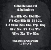 Vektorillustration av det chalked alfabetet Arkivbild