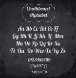 Vektorillustration av det chalked alfabetet Royaltyfri Foto