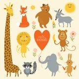 Vektorillustration av djur stock illustrationer