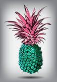 Vektorillustration av en ananas som isoleras på en vit bakgrund Royaltyfri Bild