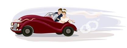 Vektorillustration av en brölloptur Royaltyfri Bild