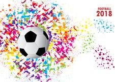Vektorillustration av en fotbollkopp 2018 design av ett stilfullt Royaltyfri Bild
