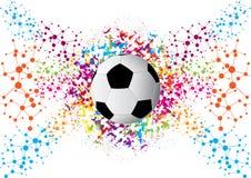 Vektorillustration av en fotbollkopp 2018 design av ett stilfullt Royaltyfria Bilder
