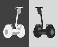 Vektorillustration av en individuell elektrisk sparkcykel Arkivfoton