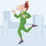Vektorillustration av en löpare Royaltyfri Fotografi