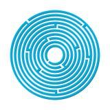 Vektorillustration av en rund labyrint för barn Royaltyfri Fotografi