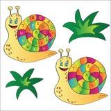 Vektorillustration av en snigel - ett pussel för barn Royaltyfria Bilder