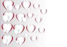 Vektorillustration av en valentindaghjärta Shape Fotografering för Bildbyråer