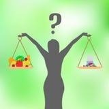 Vektorillustration av ett begrepp av sund näring Fotografering för Bildbyråer