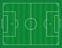 Vektorillustration av ett fotbollfält Arkivfoto