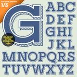 Vektorillustration av ett gammalmodigt alfabet Royaltyfria Foton