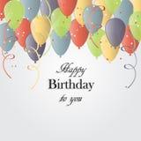 Vektorillustration av ett hälsningkort för lycklig födelsedag vektor illustrationer