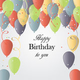 Vektorillustration av ett hälsningkort för lycklig födelsedag royaltyfri illustrationer