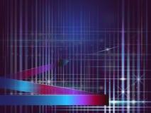 Vektorillustration av färgrika linjer och färger i mörker - blå sk vektor illustrationer