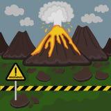 Vektorillustration av få utbrott för vulkan Arkivfoton