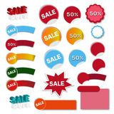 Vektorillustration av försäljningsbanret - illustration Royaltyfri Foto