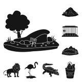 Vektorillustration av fauna- och underh?llninglogoen Upps?ttning av faunor och att parkera vektorsymbolen f?r materiel vektor illustrationer