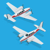 Vektorillustration av flygplan Flygplanflyg Plan symbol Flygplanvektor Nivån skriver Plan EPS Plana 3d sänker Royaltyfria Bilder