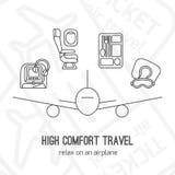 Vektorillustration av flygplanloppet Royaltyfri Fotografi