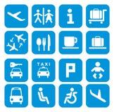 Flygplatssymboler - pictogramuppsättning Royaltyfri Bild