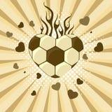 Vektorillustration av fotboll. Royaltyfria Foton