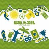 Vektorillustration av fotboll Fotografering för Bildbyråer