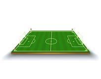 Vektorillustration av fotbollfältet fotboll Stock Illustrationer