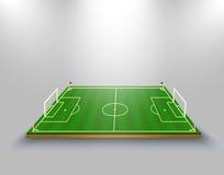 Vektorillustration av fotbollfältet fotboll Vektor Illustrationer