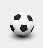 Vektorillustration av fotbollfotbollbollen Stock Illustrationer