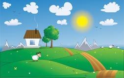 Vektorillustration av fridsamt land Royaltyfria Bilder