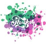 Vektorillustration av frihet med inskriften för inpackning Royaltyfria Bilder