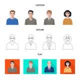 Vektorillustration av frisyr- och yrkelogoen Samling av illustrationen för frisyr- och teckenmaterielvektor vektor illustrationer