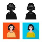 Vektorillustration av frisyr- och yrkelogoen Samling av frisyr- och teckenvektorsymbolen f?r materiel vektor illustrationer
