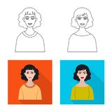 Vektorillustration av frisyr- och yrkelogoen St?ll in av illustration f?r frisyr- och teckenmaterielvektor stock illustrationer