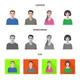 Vektorillustration av frisyr- och yrkesymbolen Samling av illustrationen för frisyr- och teckenmaterielvektor royaltyfri illustrationer