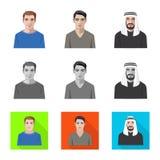 Vektorillustration av frisyr- och yrkesymbolen Samling av illustrationen f?r frisyr- och teckenmaterielvektor royaltyfri illustrationer
