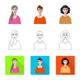 Vektorillustration av frisyr- och yrketecknet St?ll in av frisyr- och teckenvektorsymbolen f?r materiel vektor illustrationer