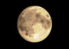 Vektorillustration av fullmånen Fotografering för Bildbyråer