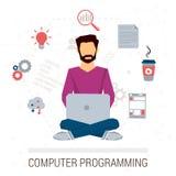 Vektorillustration av funktionsduglig programmerare Royaltyfri Illustrationer
