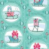 Vektorillustration av gåvor för glad jul Arkivfoto