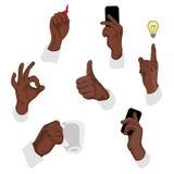 Vektorillustration av gester Stock Illustrationer