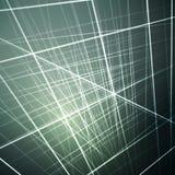 Vektorillustration av glödande linjer, abstrakt futuristisk bakgrund för olika designkonstverk vektor illustrationer
