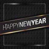 Vektorillustration av guld 2018 för lyckligt nytt år med svarta modellfärger royaltyfri illustrationer